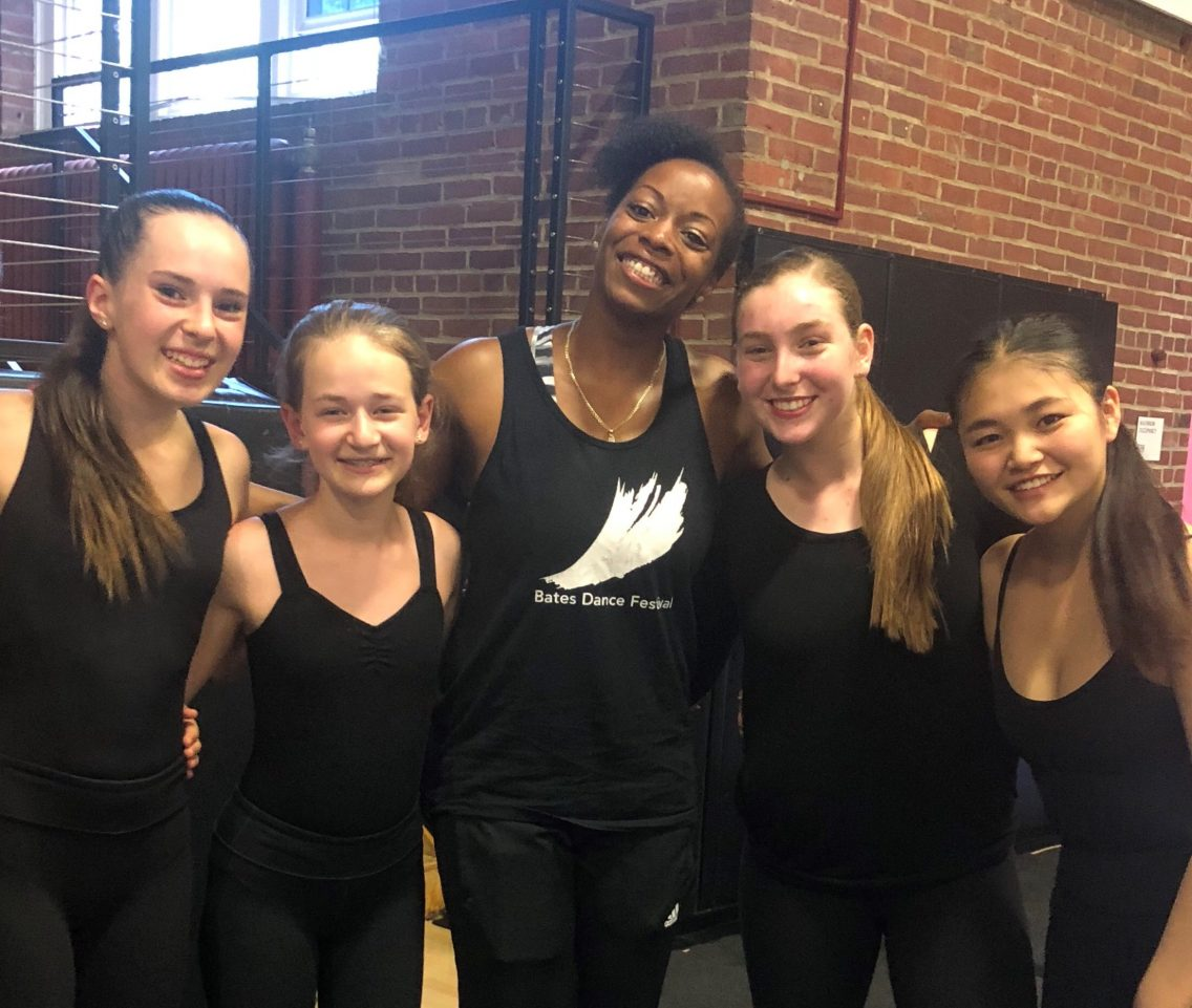 Lucia (Left) with her Hip Hop teacher and friends!